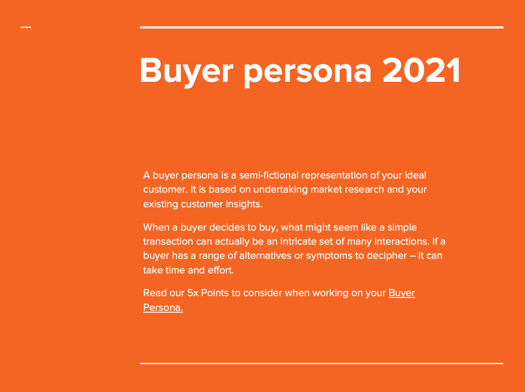 Buyer Persona presentation B2B SaaS kENNEDY grOUP ab